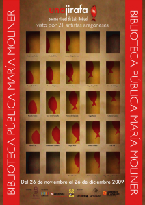 """""""Una Jirafa. Poema visual de luis buñuel  visto por 21 artistas aragoneses"""""""