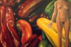 """""""Vahos de almizcle"""", óleo/lienzo, 130x195 cm"""