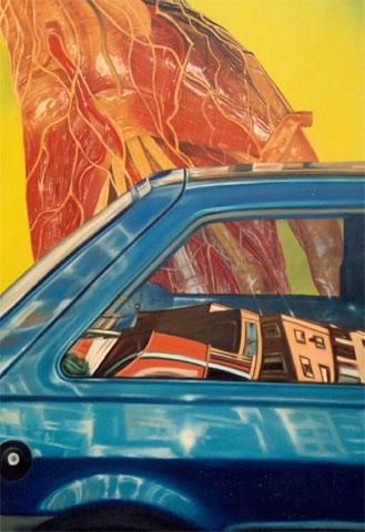 """""""Dos pieles"""", óleo/lienzo, 146x114 cm"""