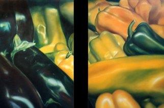 """En tu tacto"", díptico, óleo/lienzo, 116x89 cm c.u."