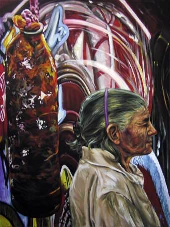 """""""La abuela"""", acrílico/lienzo, 80x60x4 cm"""