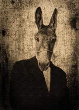 """""""El padre de Mr.Goldfried"""", collage digital, 18x13 cm"""