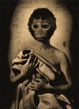 """""""La tercera esposa del padre de Mr.Goldfried"""", collage digital, 18x13 cm"""