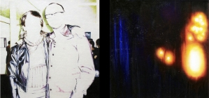 S/T, díptico, acrílico y óleo/lienzo 89x89 cm c.u.