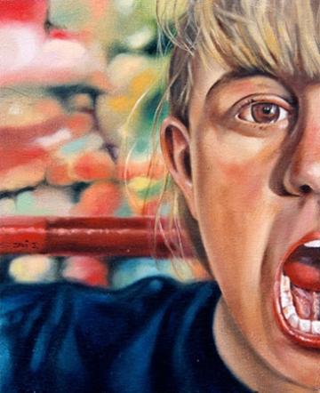 """""""El grito de Laura"""", óleo/lienzo, 41x33 cm"""
