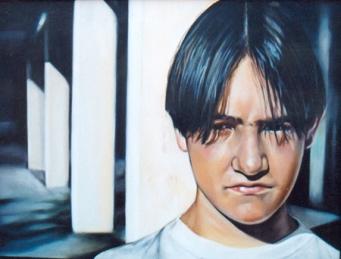 """""""El silencio"""", óleo/lienzo, 54x73 cm"""