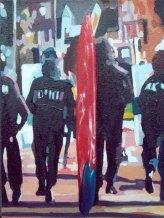 """""""La bolsa o la vida"""", óleo/lienzo, 40x30 cm"""