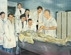 """""""La lección de anatomía del Dr.Sarrat"""", óleo/lienzo, 60x73 cm"""