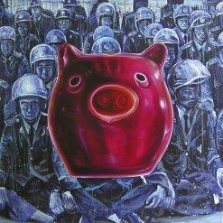 """Made in China"", acrílico y óleo/lino, 200x200 cm"