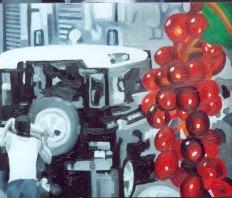 """""""Mala uva"""", óleo/tabla, 40x30 cm"""