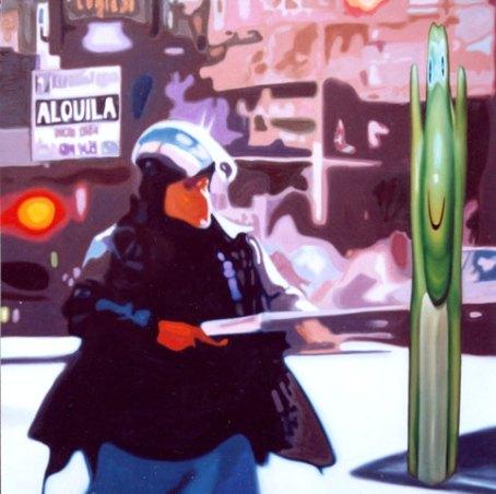 """""""¡Manos arriba!"""", óleo /lienzo, 150x150 cm"""