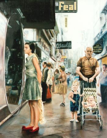 """Miradas"", óleo/lienzo, 146x114 cm"