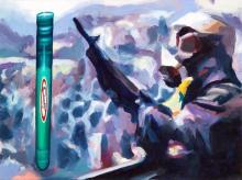 """Non fumare"", técnica mixta/lienzo, 73x92 cm"