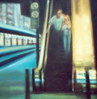 """""""La despedida"""", óleo/tabla, 45x45 cm"""