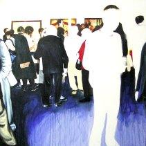 """Bruno en Pierre Chardin"", acrílico/lienzo, 150x150 cm"