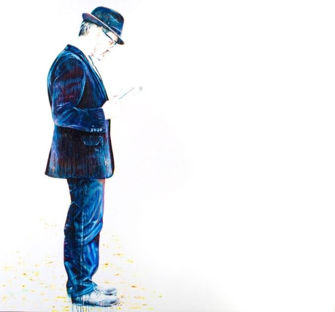 El lector, acrílico sobre lienzo, 180x195 cm., 2012