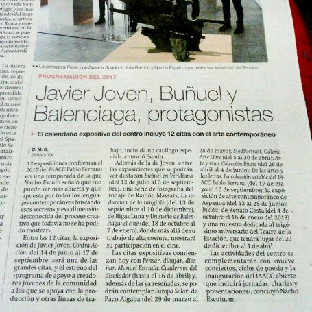 Javier Joven, Buñuel y Balenciaga, protagonistas