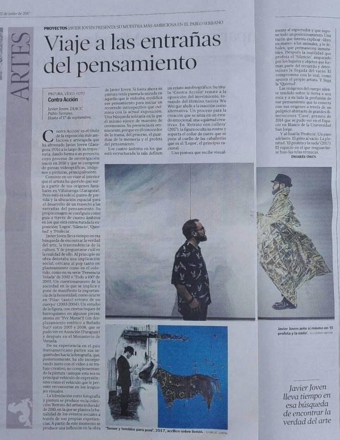 """""""Viaje a las entrañas del pensamiento"""". Artículo de Desirée Orús en Heraldo de Aragón, 22/06/17"""